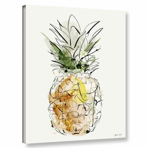 'Fine Apple' Painting Print on Canvas by Zipcode Design