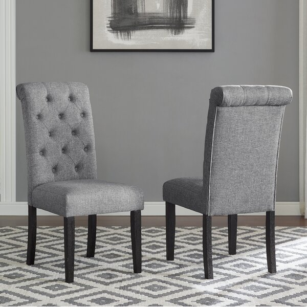 Evelin Tufted Upholstered Parsons Dining Chair (Set Of 2) By Charlton Home