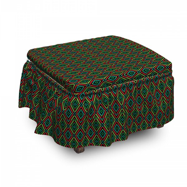 Shapes Ottoman Slipcover (Set Of 2) By East Urban Home
