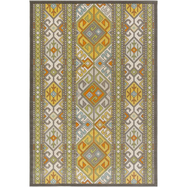 Agosto Green/Yellow Area Rug by Loon Peak