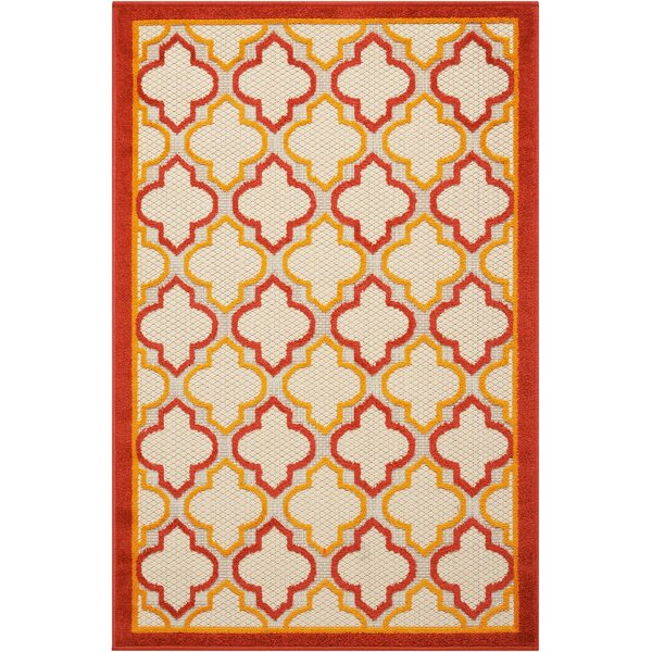 Ardleigh Red Indoor/Outdoor Area Rug by Breakwater Bay