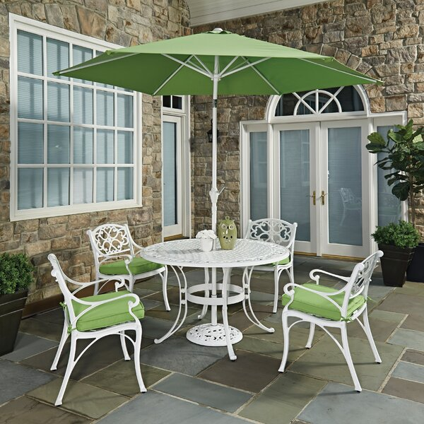 Biscayne 7 Piece Dining Set with Cushion by Home Styles
