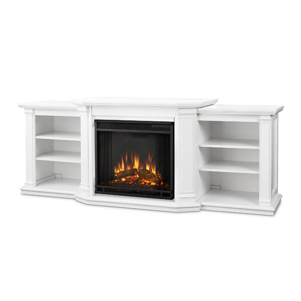Valmont 74 TV Stand with Fireplace by Real Flame
