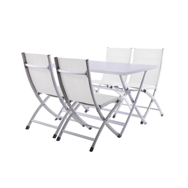 Bugarin 5 Piece Dining Set by Ebern Designs