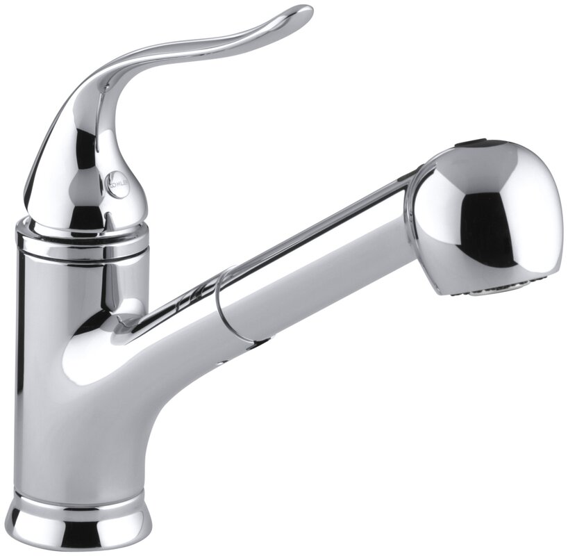 kohler coralais single-hole or three-hole kitchen sink faucet with