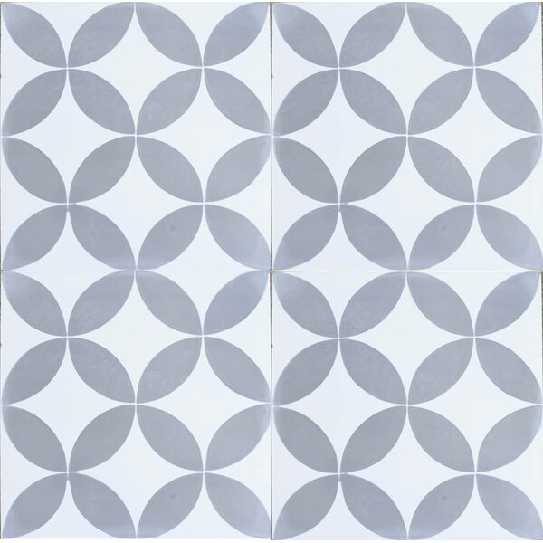 MeaLu 8 x 8 Cement Field Tile in Matte Gray/White (Set of 4) by Rustico Tile & Stone