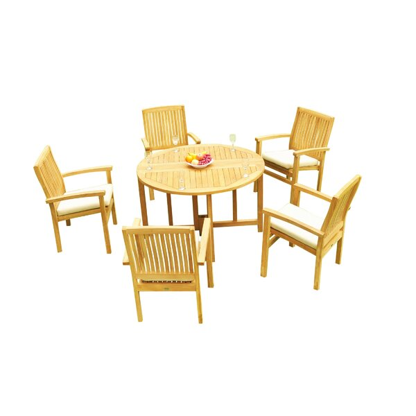 Masuda 6 Piece Teak Dining Set by Rosecliff Heights