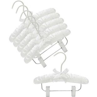 Affordable Infant Satin Padded Nursery Hanger with Clips (Set of 6) By Only Hangers Inc.
