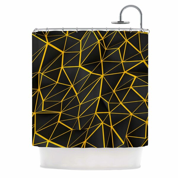 Danny Ivan Yellow Poly Shower Curtain by East Urban Home