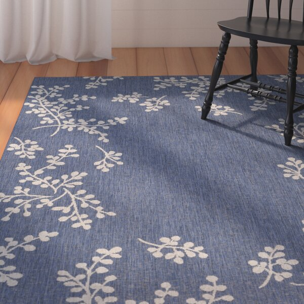 Jacqueline Winterberry Blue Outdoor Area Rug by August Grove