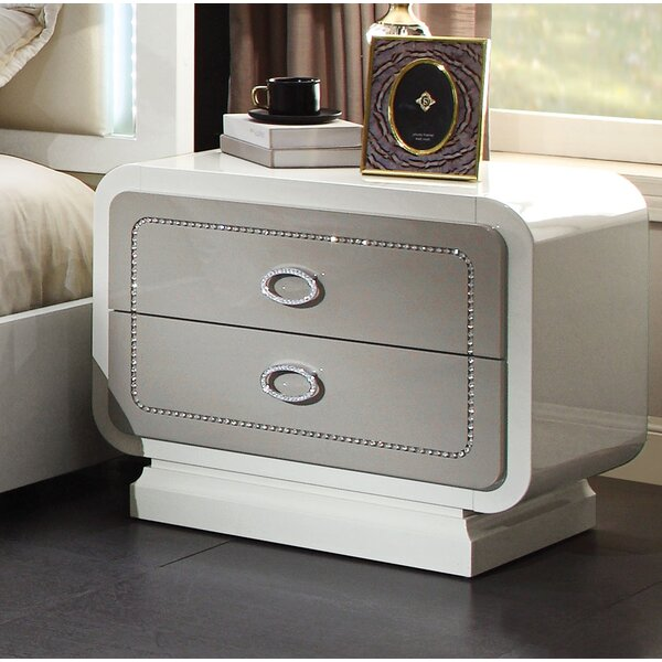 Severus 2 Drawer Nightstand by Rosdorf Park
