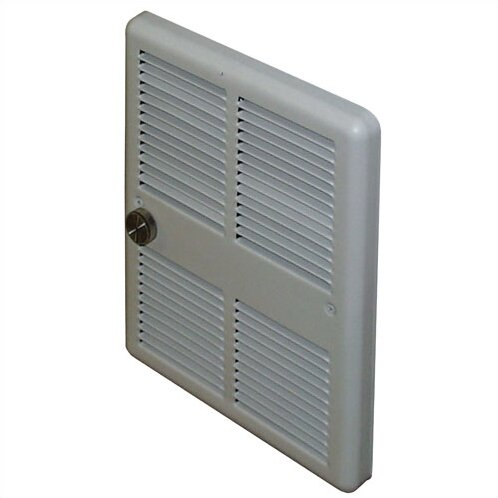 Economical Wall Insert Electric Fan Heater with Double Pole Thermostat by TPI