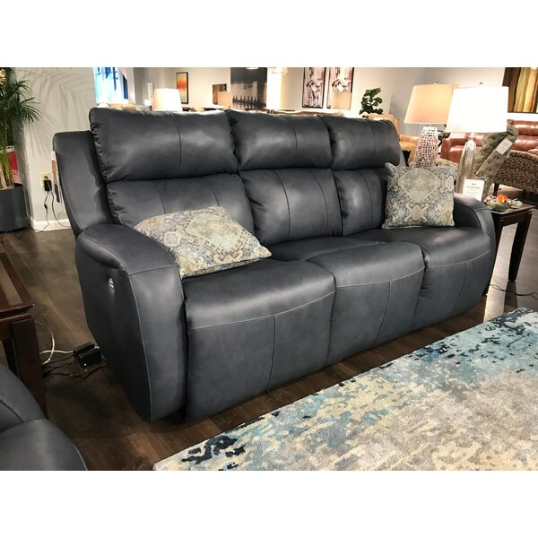 Grand Slam Leather Reclining Sofa by Southern Motion