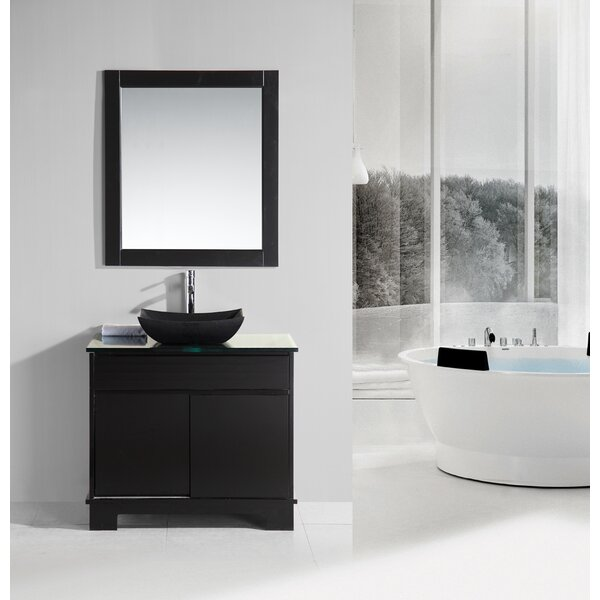 Penton 36 Single Bathroom Vanity Set with Mirror by dCOR design