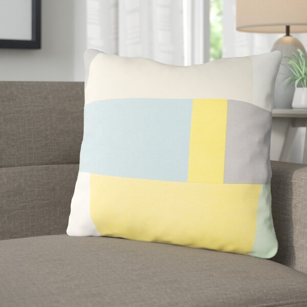 Aberdene Patchwork Cotton Throw Pillow by Langley Street