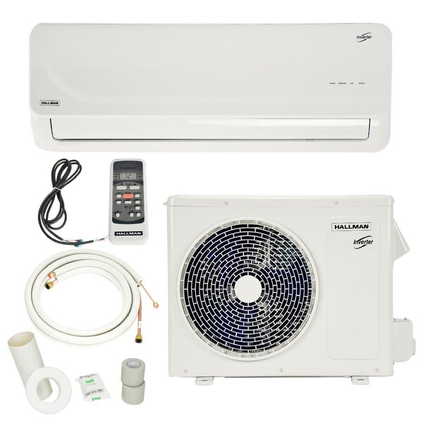 9,000 BTU Energy Star Ductless Mini Split Air Conditioner with Remote by Hallman Industries