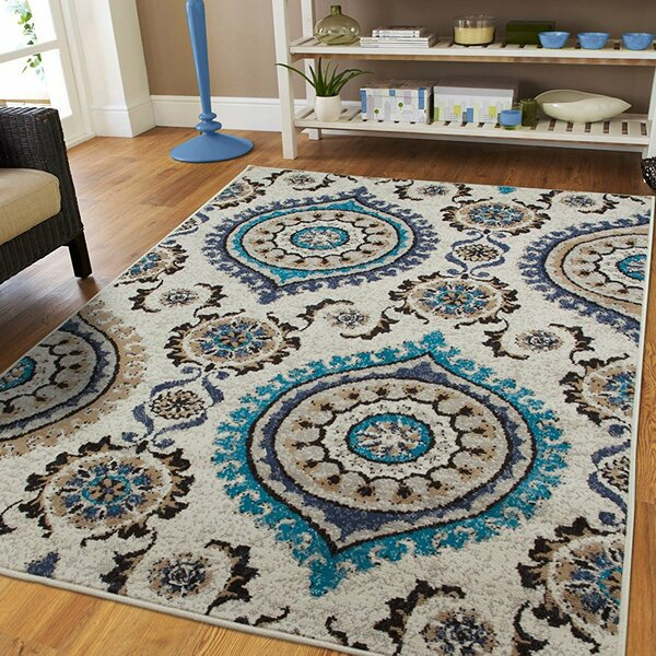 Aaronsburg Ivory Indoor/Outdoor Area Rug by Bungalow Rose