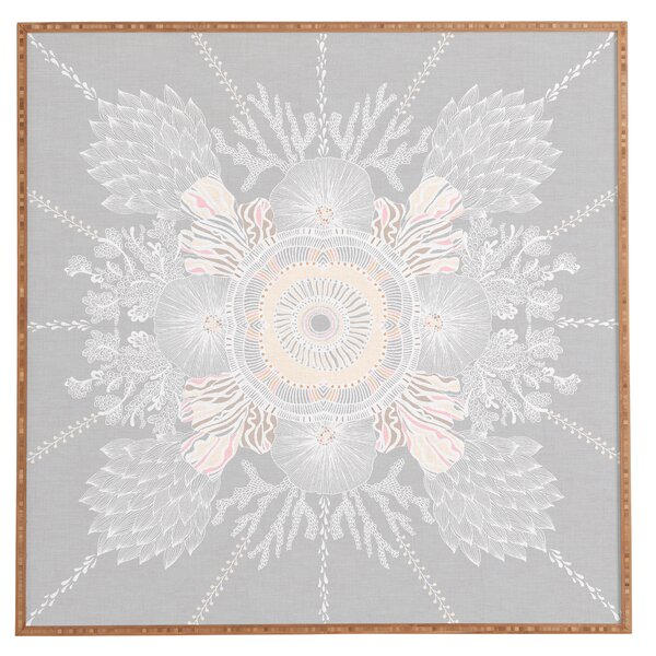 Bermuda Rose Framed Graphic Art by East Urban Home