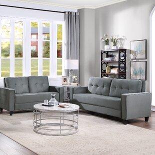 Jessly 2 Piece Velvet Living Room Set by Latitude Run®