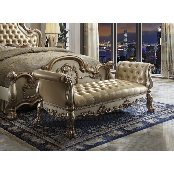 Perales Upholstered Bench by Astoria Grand Astoria Grand