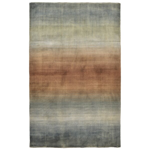 Hansford Hand-Loomed Blue Area Rug by Ivy Bronx