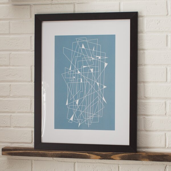 Mid Century Scratch Framed Graphic Art by Langley Street