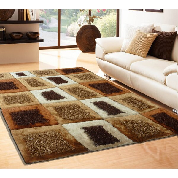 Rosati Hand Tufted Brown Area Rug by Latitude Run