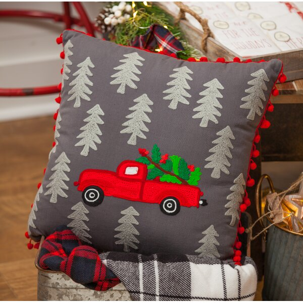Bedelia Truck Throw Pillow by Millwood Pines