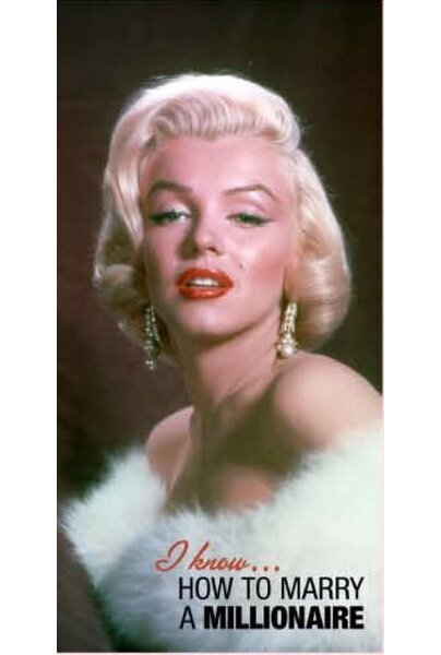 Royal Plush Marilyn Monrow How to Marry a Millionaire Beach Towel by Ben and Jonah