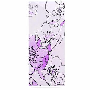'Painted Wild Roses Purple' Painting Print on Metal by East Urban Home