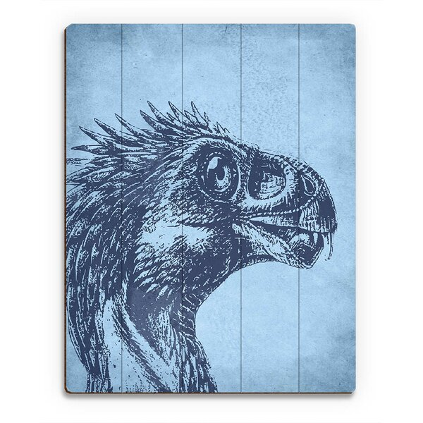 Beipiaosaurus Graphic Art on Plaque by Click Wall Art