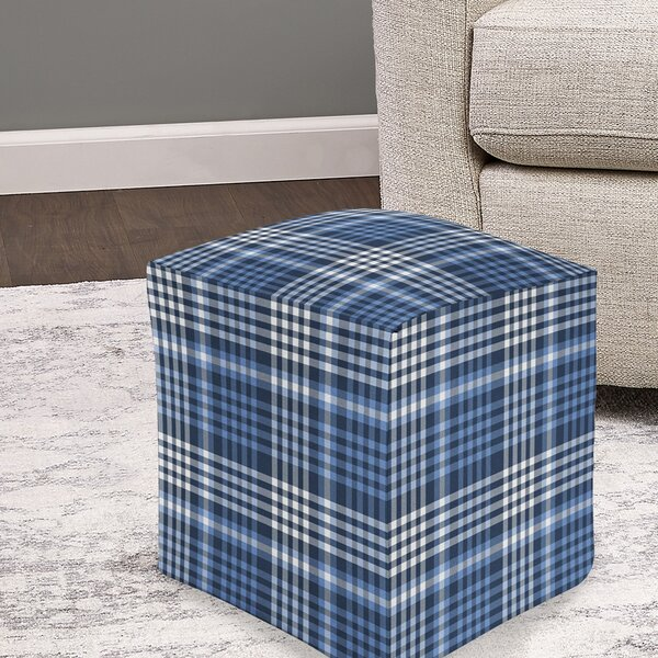 Barclee Plaid Pouf by August Grove