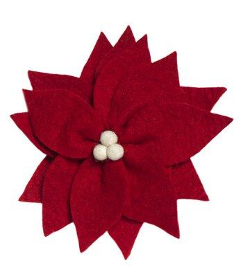 Arcadia Home Design Inc. Poinsettia Christmas Tree Topper   Wayfair