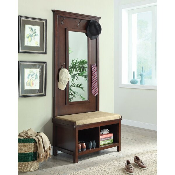 Kalicki Hall Tree with Storage Bench and Mirror