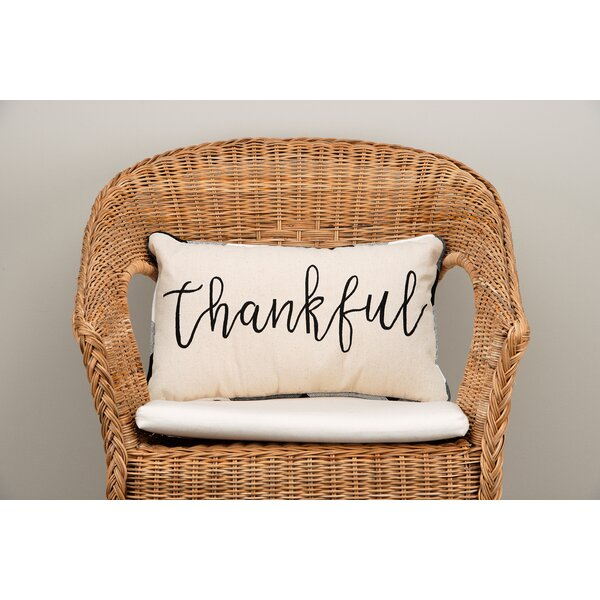 Gullett Thankful Cotton Throw Pillow by August Grove