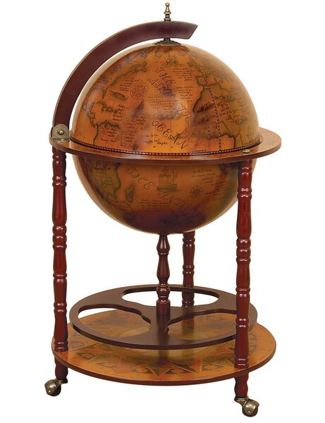 Wood World Globe Bar by Astoria Grand