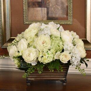 Flower box centerpiece wayfair silk flower centerpiece in planter mightylinksfo