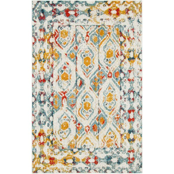 Hartell Blue/Yellow Area Rug by Bungalow Rose
