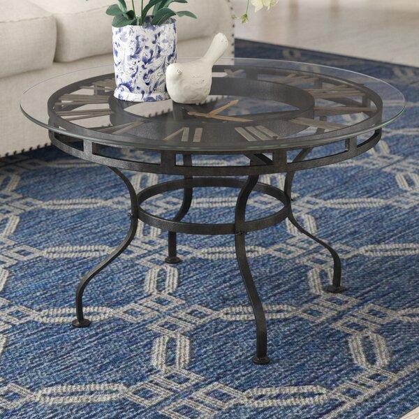 Bracken Coffee Table with Clock by Three Posts