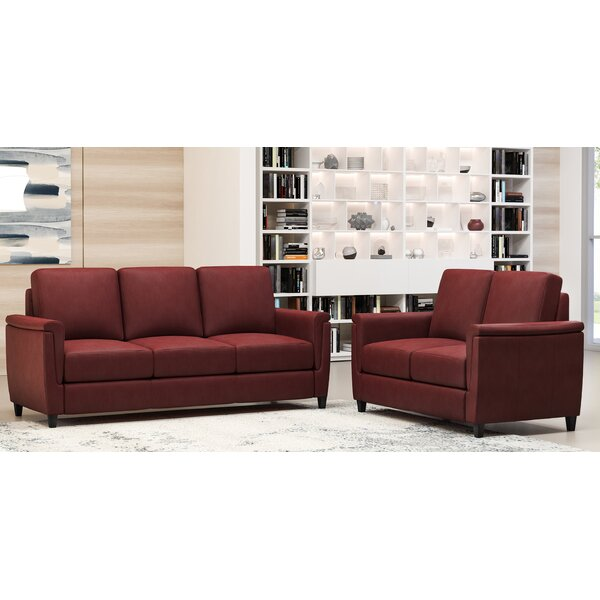 Altimo 2 Piece Leather Living Room Set by Westland and Birch