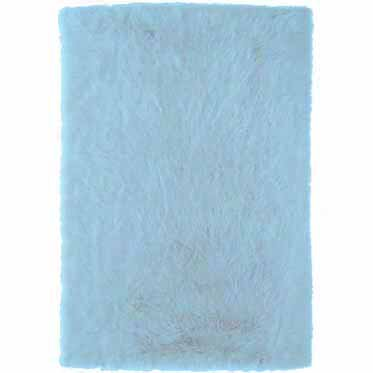 Samantha Hand-Tufted Faux Sheepskin Blue Area Rug by Threadbind