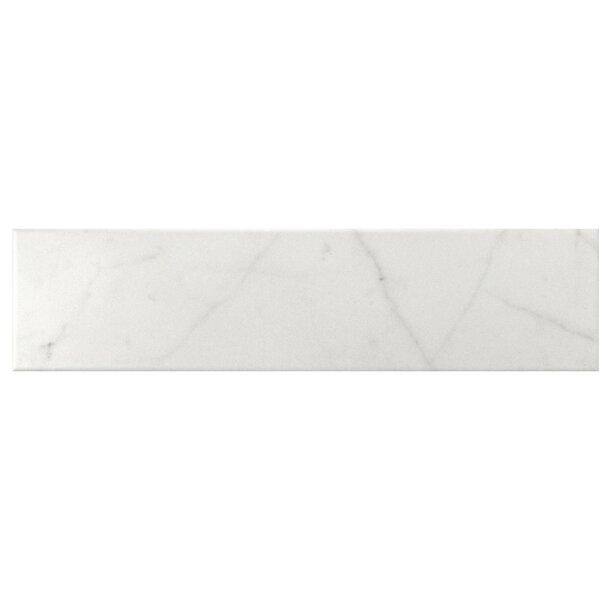 Karra Carrara 3 x 12 Ceramic Subway Tile in Matte White/Gray by EliteTile