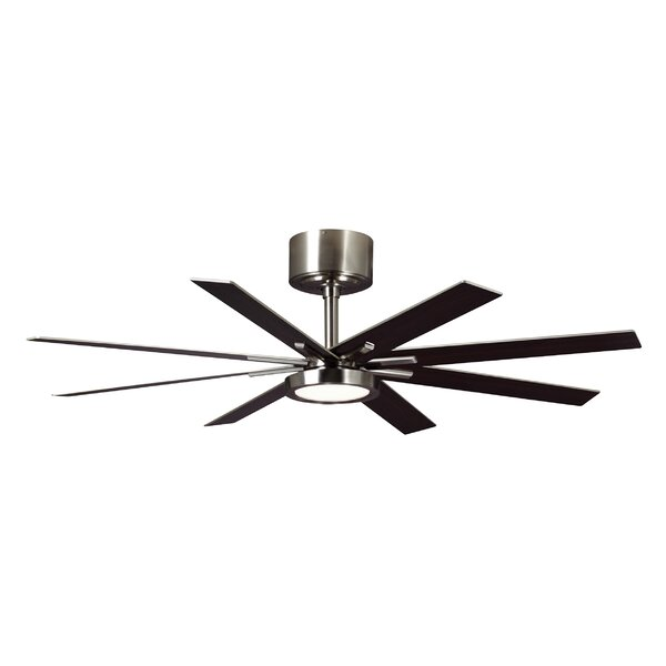 60 Woodlynne 8 Blade LED Ceiling Fan with Remote by Wade Logan