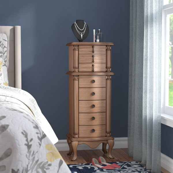 Chisdock Jewelry Armoire with Mirror by Darby Home Co Darby Home Co