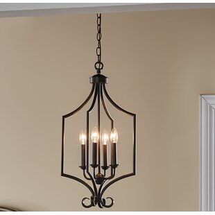 Compare prices Bourneville 4-Light Foyer Pendant By Darby Home Co