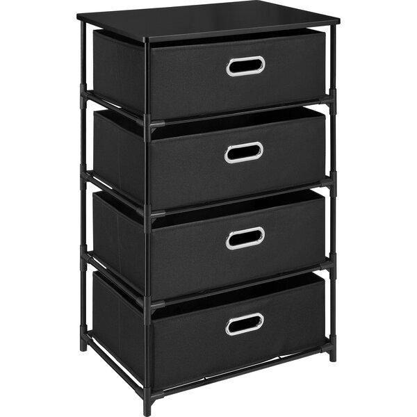Bohnsack 4 Drawer Storage Unit End Table by Ebern Designs