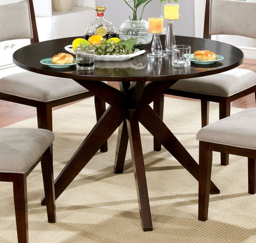 Mid Century Modern Glass Dining Table Trend Home Design - Mid century modern round kitchen table