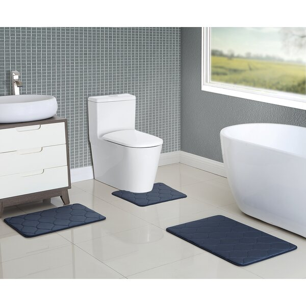 Younkin Memory Foam 3 Piece Bath Rug Set by Breakwater Bay