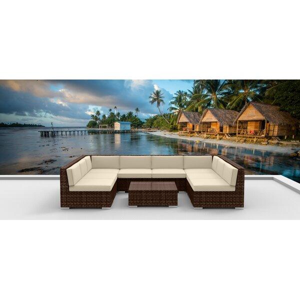 9 Piece Sectional Set with Cushions Brayden Studio W000185463