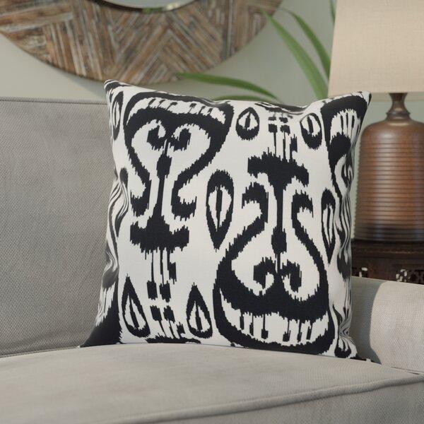 Sabrina Ikat Geometric Outdoor Throw Pillow by Bungalow Rose